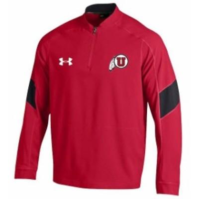 Under Armour アンダー アーマー スポーツ用品  Under Armour Utah Utes Red 2016 Sideline Mastermind Cage Jacket