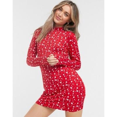 ウェンズデーガール レディース ワンピース トップス Wednesday's Girl long sleeve mini dress in ditsy floral