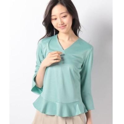 LAPINE BLANCHE / ラピーヌ ブランシュ シルキースムース裾フレアデザインカットソー