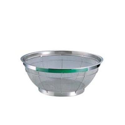 TKG NEWマンモス カラー 浅型ざる  25cmグリーン  ザルカゴ