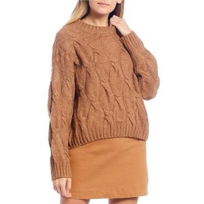 ジービー レディース パーカー・スウェット アウター Cable Knit Sweater