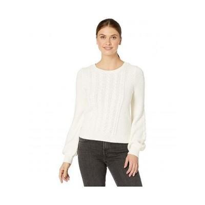 Lilla P リラP レディース 女性用 ファッション セーター Fisherman Cable Crew Neck Sweater - Ivory