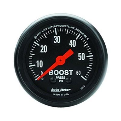 AUTO METER 2617 Z-Series Mechanical Boost Gauge, 2.3125 in.並行輸入品