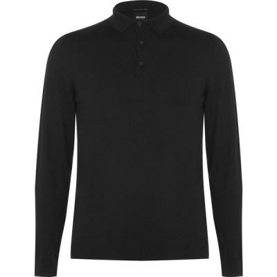 ヒューゴ ボス Boss メンズ ポロシャツ トップス Hbb Bonol Ls Polo Sn04 Black