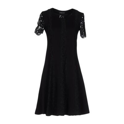 ツインセット シモーナ バルビエリ TWINSET ミニワンピース&ドレス ブラック XXS レーヨン 62% / ナイロン 31% / ポリウレタ