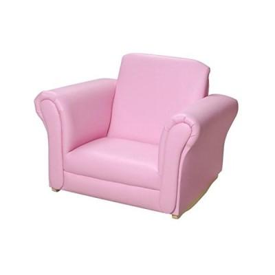 ギフトマーク布張りのロッキングチェア、ピンク