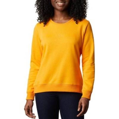 コロンビア レディース パーカー・スウェット アウター Columbia Women's Logo Crew Top Bright Marigold