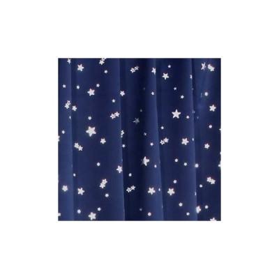 1級遮光カーテン プラネット ネイビーブルー 幅100cm×丈110cm 2枚入 全2色8サイズ