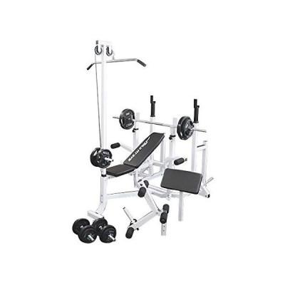 《パッドプレゼント中》 マルチトレーニングジムセット 黒ラバー70kg / 筋トレ トレーニング器具 ダンベル バーベル ベンチプレス ワイルドフィット