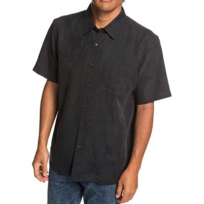 クイックシルバー Quiksilver メンズ 半袖シャツ トップス Waterman Kelpies Bay Short Sleeve Button Up Shirt Black