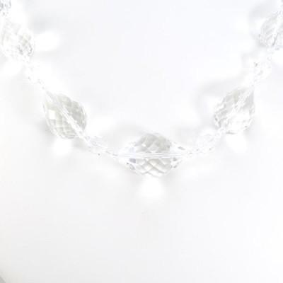 ネックレス K18 18金 WG ホワイトゴールド クォーツ 総重量約60.5g