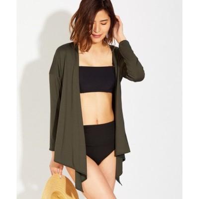カーディガン 【Reir Beach(レイールビーチ)】 Solid 羽織り   【VERYコラボ(ブラックのみ)/水着用リゾートウェア/上下別売り】