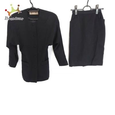 ピンキー&ダイアン Pinky&Dianne スカートスーツ サイズM レディース 黒 肩パッド   スペシャル特価 20210702