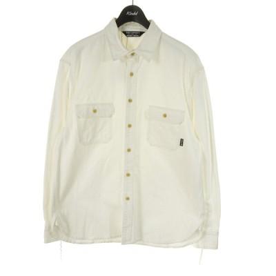 【4月12日値下】Cut Rate DENIM L/S SHIRT デニムシャツ ホワイト サイズ:L (和歌山店)