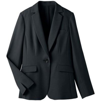 テーラードジャケット(選べる2丈・接触冷感・吸汗速乾・洗濯機OK)/ブラックB(レギュラー丈)/7AR