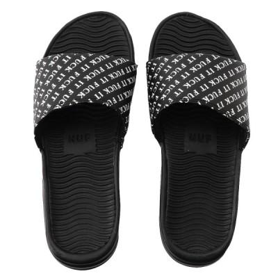 【即納】ハフ HUF メンズ サンダル シューズ・靴 FUCK IT SLIDE BLACK