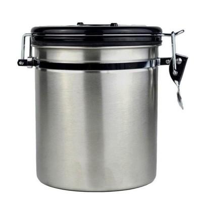 [.a]コーヒー豆は、排気バルブ付きのスチール製ティーキャニスターでカップを密封することができます