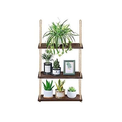 特別価格Yazoo Hanging Plant Shelf - 3-Tier Boho Wall Window Shelf for Plants Indoor好評販売中