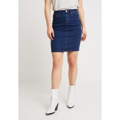 ヴィラ レディース スカート ボトムス VICOMMIT FELICIA SHORT SKIRT - Denim skirt - medium blue denim medium blue denim