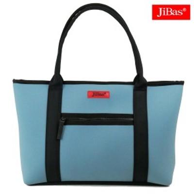 トートバッグ 鞄 カバン 無地 JiBas ジバス(ライトブルー水色) 614