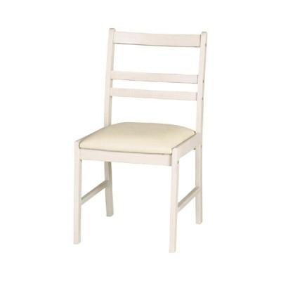 ダイニングチェア カントリー調 MIGNON 座面高42.5cm ( クラシック調 ガーリー 白家具 チェア 椅子 イス ダイニング リビング ホワイト )