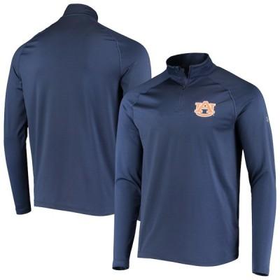 """メンズ ジャケット """"Auburn Tigers"""" Under Armour Performance Quarter-Zip Pullover Jacket - Navy"""