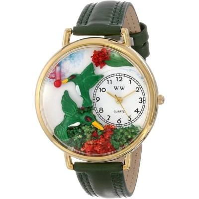 ハチドリ ピンクレザー ゴールドフレーム時計 #G1210003