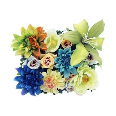 Lumiphire 造花 アレンジメント 額縁付 花の芝生 壁掛け 卓上置き インテリア おしゃれ 人気 母の日 プレゼント 女性 誕生日 記念日 感