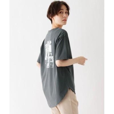 (SHOO・LA・RUE DRESKIP/シューラルー ドレスキップ)ひんやり 転写プリントTシャツ/レディース ディープグレー(015)