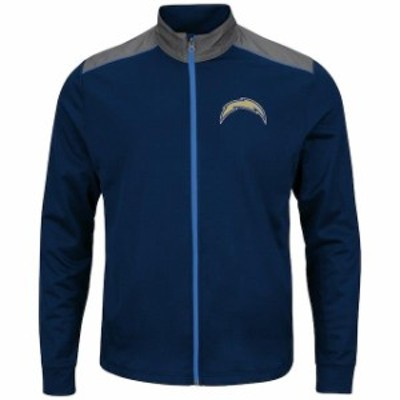 Majestic マジェスティック スポーツ用品  Majestic Los Angeles Chargers Navy Team Tech Full-Zip Jacket