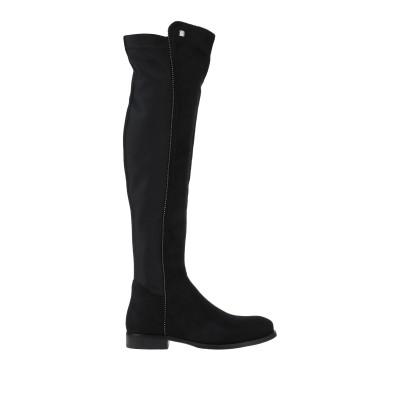 LAURA BIAGIOTTI ブーツ ブラック 37 紡績繊維 ブーツ