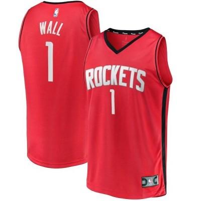 ファナティクス ブランデッド メンズ Tシャツ トップス John Wall Houston Rockets Fanatics Branded 2020/21 Fastbreak Replica Jersey Red