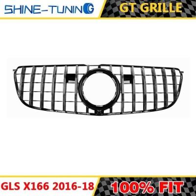 GLSクラスX166 GT GTRグリル2016-18 GLS63 フロントグリル silver