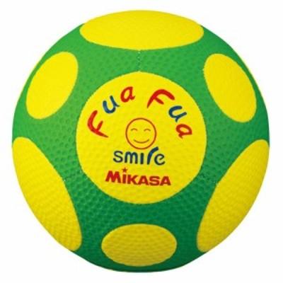 ミカサ FFF4-YG サッカーボール 4号球MIKASA ふぁふぁスマイルサッカー(イエロー/グリーン)[FFF4YG]【返品種別A】