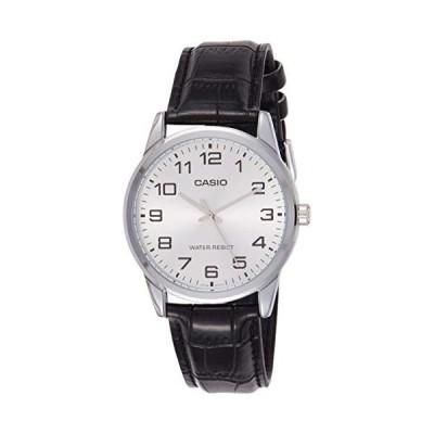 腕時計 カシオ メンズ MTP-V001L-7 Casio Men's MTPV001L-7B Black Leather Quartz Watch