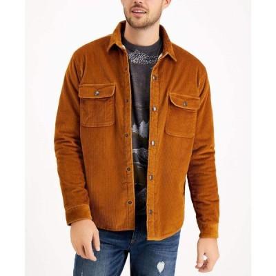 サンストーン Sun + Stone メンズ フリース シャツジャケット トップス Badgely Cord Regular-Fit Fleece-Lined Corduroy Shirt Jacket Melanin