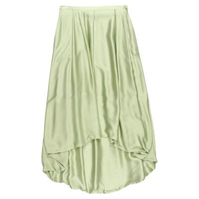 ファビアナフィリッピ FABIANA FILIPPI ひざ丈スカート ライトグリーン 42 シルク 100% ひざ丈スカート