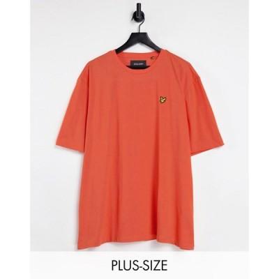 ライル アンド スコット Lyle & Scott メンズ Tシャツ トップス plus marl t-shirt レッド