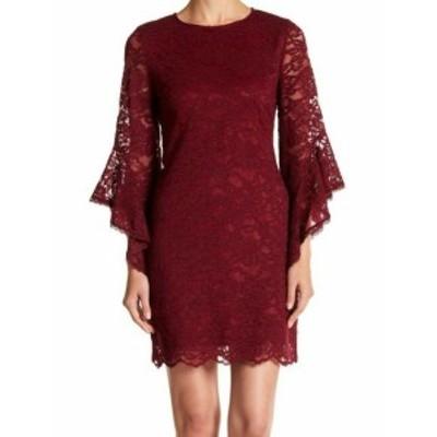 Laundry by Shelli Segal ランドリーバイシェルシーガル ファッション ドレス Laundry by Shelli Segal NEW Red Womens Size 4 Lace Shea