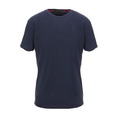 CESARE PACIOTTI 4US T シャツ ダークブルー M コットン 95% / ポリウレタン 5% T シャツ