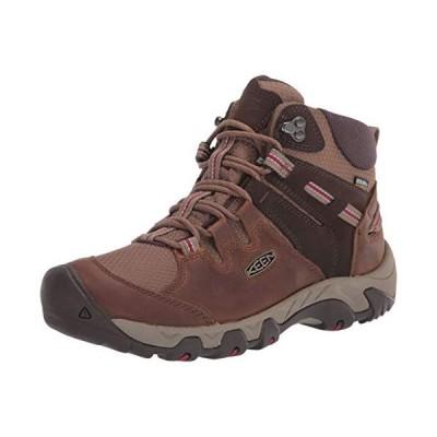 KEEN Women's Steens Leather Waterproof Hiking Boot, Toasted Coconut/Tibetan Red, 5.5 M (Medium) US【並行輸入品】
