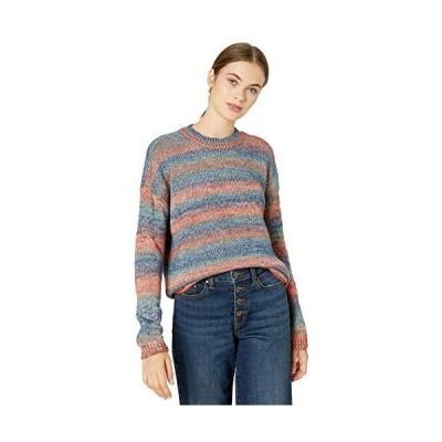 BB DAKOTA Junior's give me Space Stripe Sweater, Faded Denim, Medium並行輸入品 送