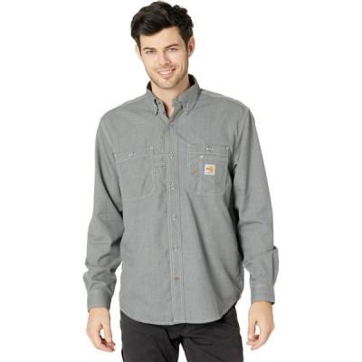 カーハート Carhartt メンズ シャツ トップス Flame-Resistant Force Original Fit Lightweight Long Sleeve Button Front Shirt Gray
