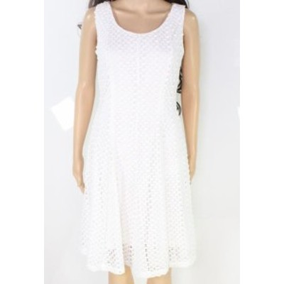 Robbie  ファッション ドレス Signature by Robbie Bee Womens White Size 6P Petite Lace Sheath Dress
