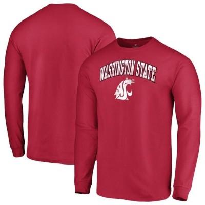 ユニセックス スポーツリーグ アメリカ大学スポーツ Washington State Cougars Fanatics Branded Campus Long Sleeve T-Shirt - Crimso