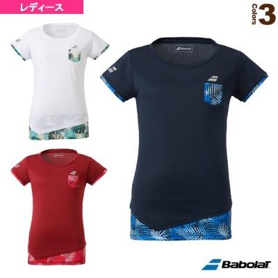 バボラ テニス・バドミントンウェア(レディース)  ショートスリーブシャツ/カラープレイライン/レディース(BTWQJA04)