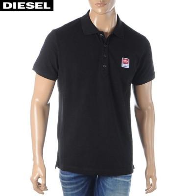 ディーゼル DIESEL ポロシャツ メンズ 半袖 T-KAL-PATCH 00SAVB-0BAWH ブラック