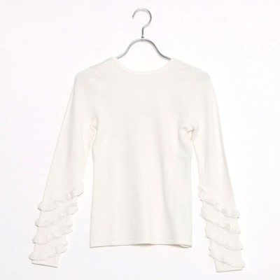 ゲス GUESS NADIA RUFFLE SLEEVE SWEATER (SCUFFY)