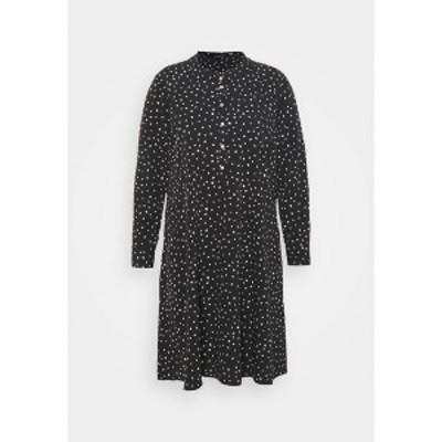 ドロシー パーキンス レディース ワンピース トップス SPOT SHIRT DRESS - Day dress - black black