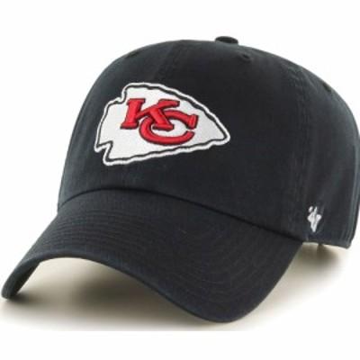 フォーティセブン 47 メンズ キャップ 帽子  Kansas City Chiefs Clean Up Black Adjustable Hat